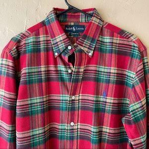 Ralph Lauren Men's Flannel Button down Shirt
